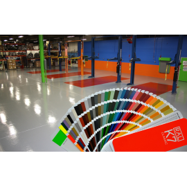 Selection of the floor color RAL